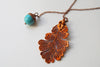 Copper Acorn and Oak Leaf Lariat