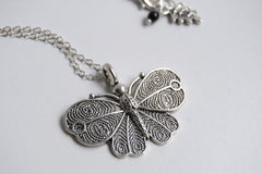 Vintage Style Butterfly Necklace