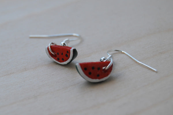 Watermelon Earrings - Enchanted Leaves - Nature Jewelry - Unique Handmade Gifts