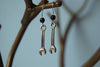Tiny Silver Wrench Earrings - Enchanted Leaves - Nature Jewelry - Unique Handmade Gifts