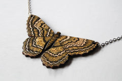 White Witch Moth Necklace