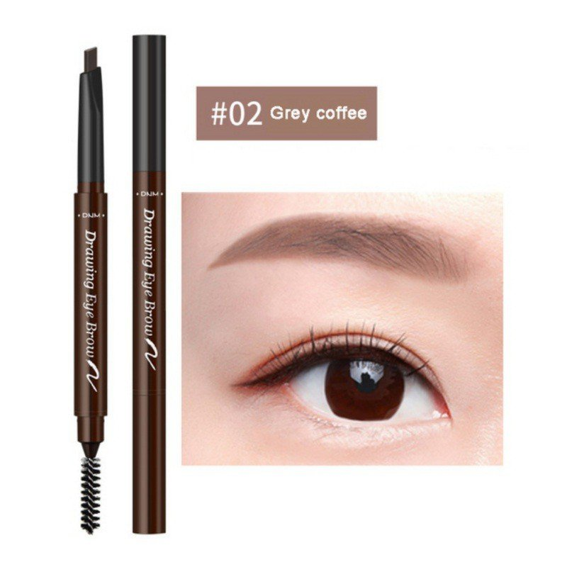 Double-Head Automatic Rotation Eyebrow Pencil Waterproof Weat-Proof Eyebrow Pen 7 Colors For Choice