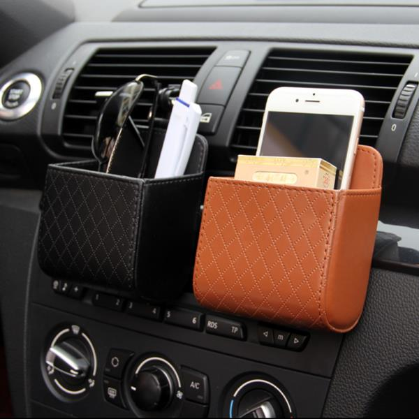 Auto Air Vent Car Storage Bag Multi-functional PU Phone Bag Ditty Bag Special 3 /US$16.98