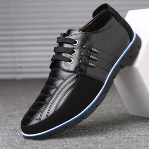 Large Size Men Genuine Leather Splicing Non-slip Soft Casual Driving Shoes