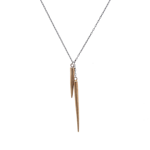 Double Spear Necklace