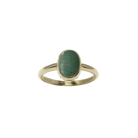 Rose cut Emerald in 14k gold