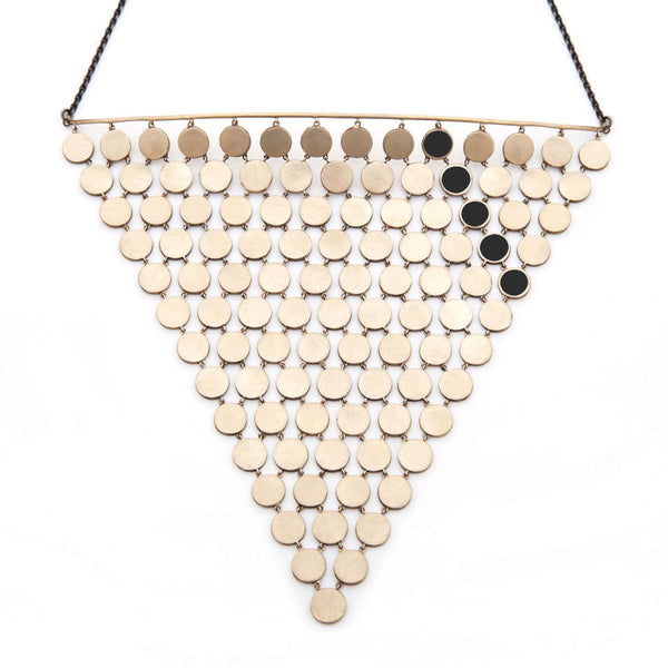 Large Mesh Pyramid Necklace