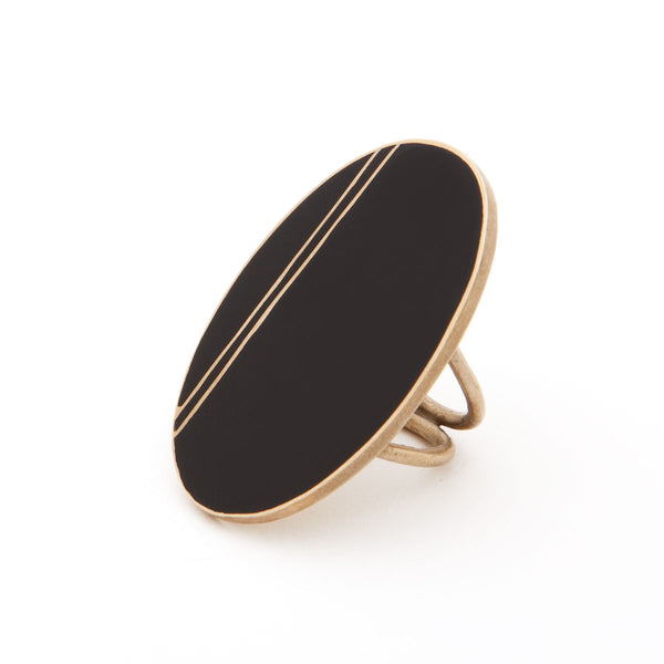Satet Shield Ring with Enamel