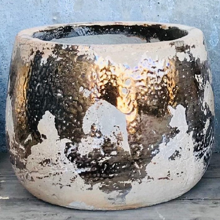 Gold Splatters Planters - Two Sizes