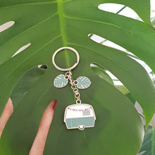 Load image into Gallery viewer, Monstera Camper Keyring