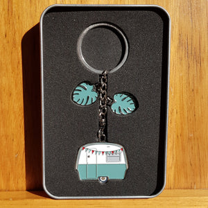 Monstera Camper Keyring