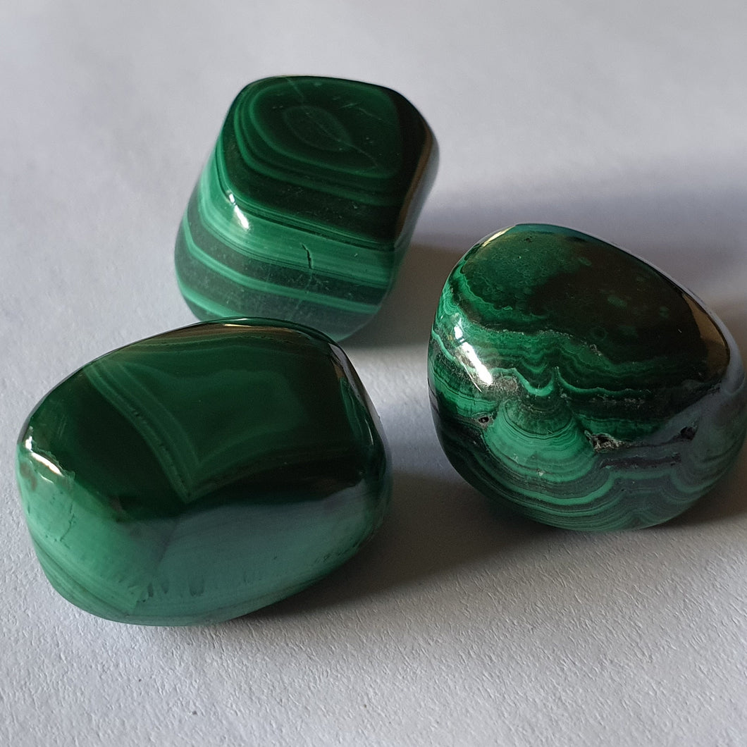 Crystals - Malachite Tumbled Stone
