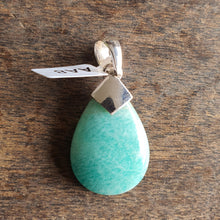 Load image into Gallery viewer, Crystals - Amazonite Teardrop Pendant - Sterling Silver