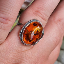 Load image into Gallery viewer, Crystals - Amber Ring -Sterling Silver