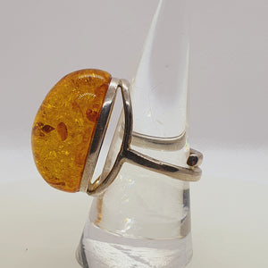 Crystals - Amber Ring - Sterling Silver