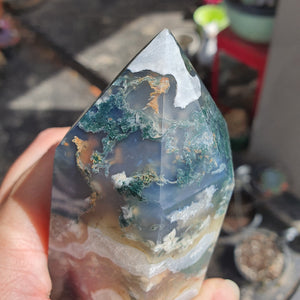 Crystals - Moss Agate Point/Tower