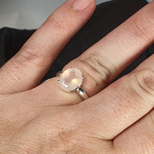 Load image into Gallery viewer, Crystals - Rose Quartz Ring - Sterling Silver