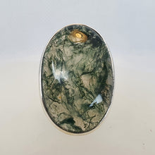 Load image into Gallery viewer, Crystals - Moss Agate Ring - Sterling Silver