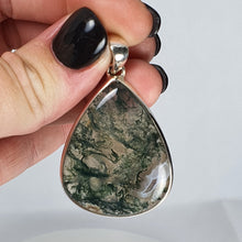 Load image into Gallery viewer, Crystals - Moss Agate Pendant - Sterling Silver