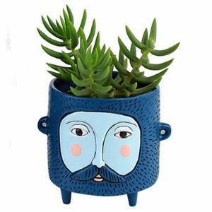 Allen Designs - BABY Hairy Jack Planter BLUE