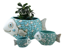 Load image into Gallery viewer, Allen Designs - Fish Planter - Blue