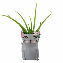 Load image into Gallery viewer, Allen Designs - BABY Kitty Planter ~ GREY