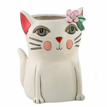 Load image into Gallery viewer, Allen Designs - BABY Kitty Planter ~ WHITE