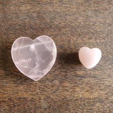 Load image into Gallery viewer, Crystals - Rose Quartz Heart 35mm