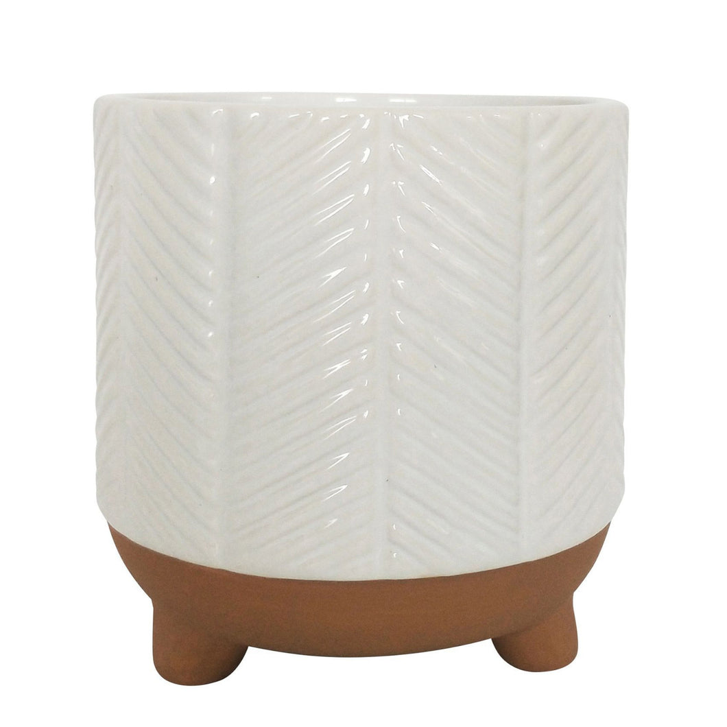 Pretty As A Peacock Planter White