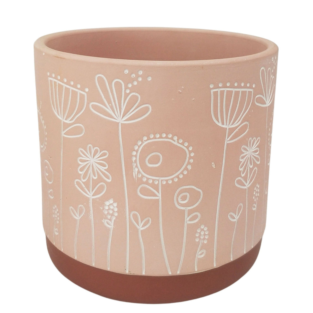 Field of Flowers Planter Pink Medium