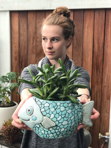 Allen Designs - Fish Planter - Blue