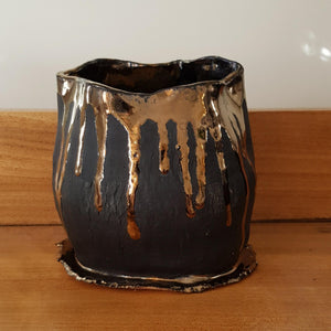 Black and Gold Him Planter