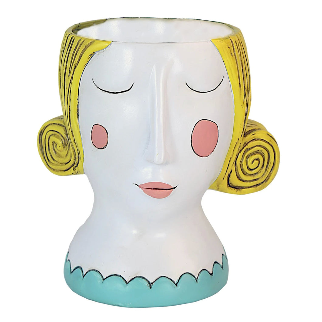 Allen Designs - Lady Planter - YELLOW HAIR
