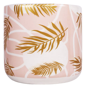 Pink and Palmy Planter