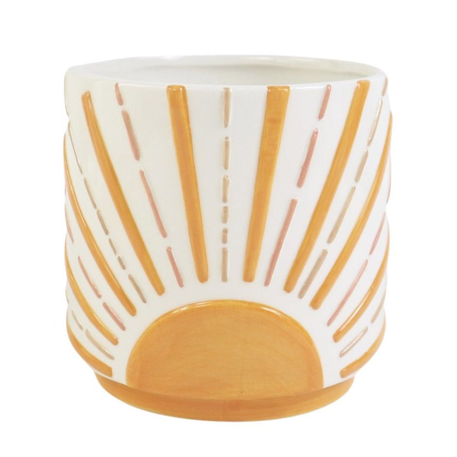 Rays of Sunshine Orange Planter