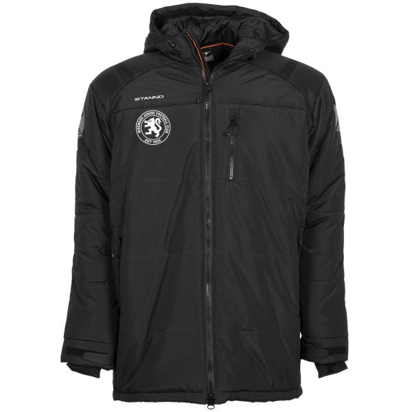 Wisewood JFC Padded Coach Jacket Full Zip (Black)