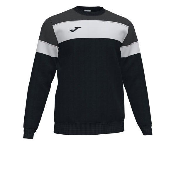 Joma Crew IV Sweatshirt (Black/Anthracite/White)