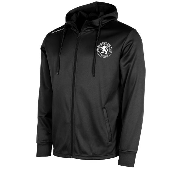 Wisewood JFC Field Hooded Top Full Zip (Black)