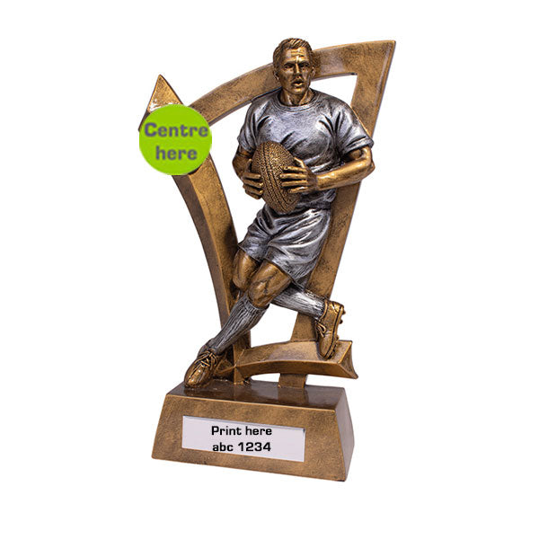 Gold/Silver Predator Male Rugby Series Trophy