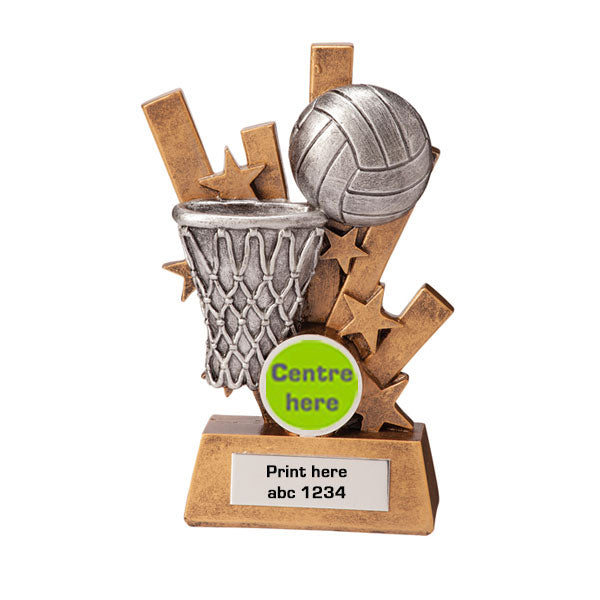 Gold/Silver Sentry Netball Series Trophy