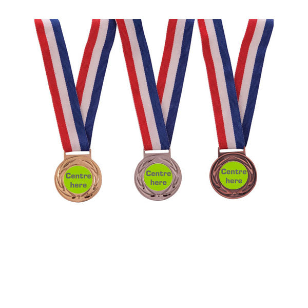 Multi Sport Value Medal & Ribbon Combination (Gold, Silver & Bronze)