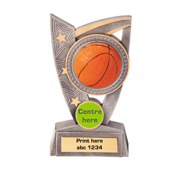 Silver/Gold Triumph Basketball Series Trophy