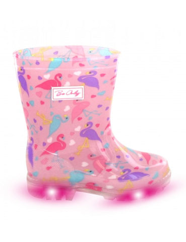 Be Only Flamingo Flash Wellies
