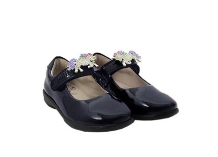 Lelli Kelly Blossom 2 in Navy Unicorn School Shoe LK8213