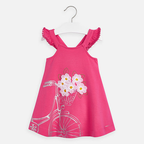Mayoral Bicycle with Flowers Dress 3962