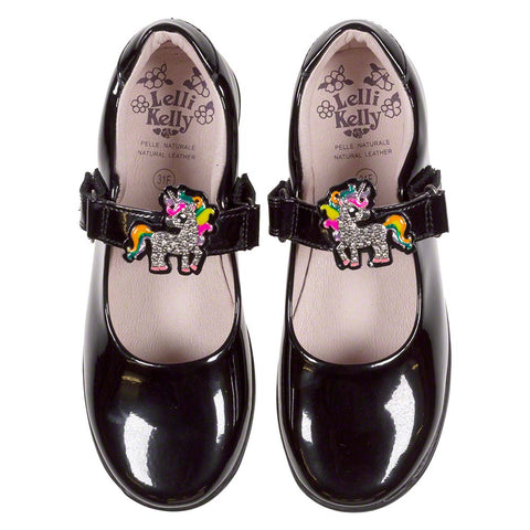 Lelli Kelly Bonnie Unicorn School Shoe LK8311