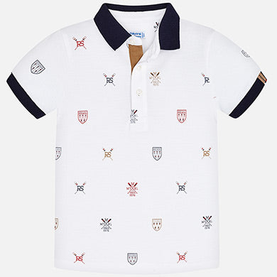 Mayoral Crested Polo Shirt 3152
