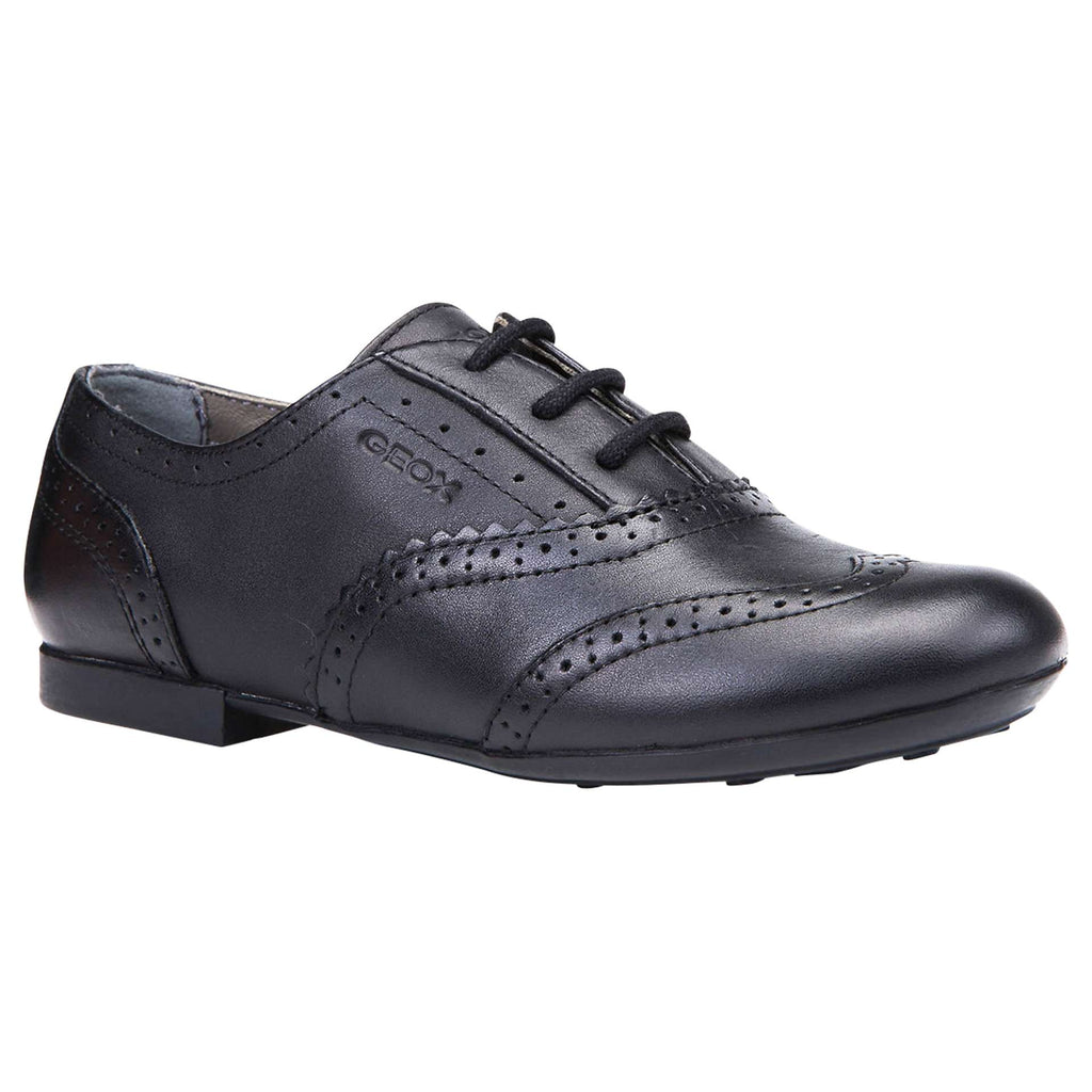 Geox Plie Brogue School Shoe