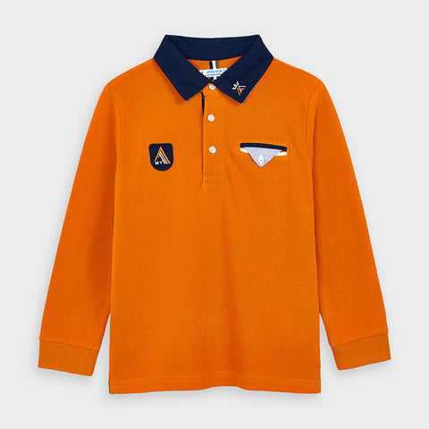 Mayoral Long Sleeve Polo 4128