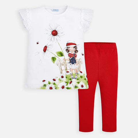 Mayoral Flowers in Field Leggings Set 3720